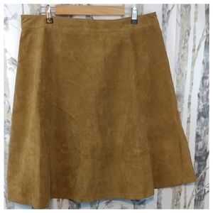 Genuine Leather/Suede A line skirt